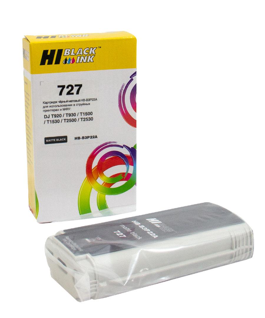 Картридж Hi-Black (B3P22A) для HP DJ T920/T1500, Mattblack, №727, 130 мл