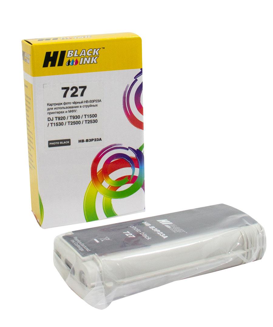 Картридж Hi-Black (B3P23A) для HP DJ T920/T1500, Photoblack, №727, 130 мл