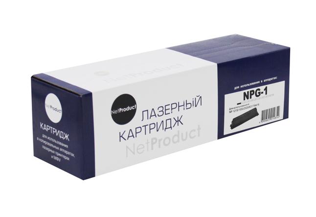 Тонер-картридж NetProduct (N-NPG-1) для Canon NP-1215/1550/2020/6317/6416, туба, 3,8K