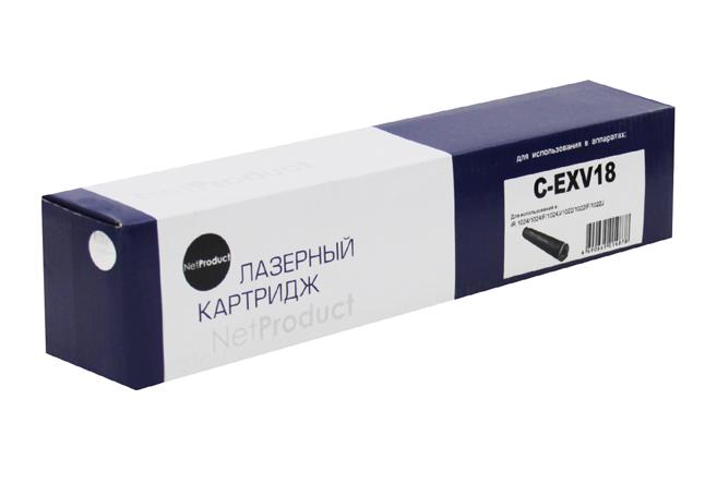 Тонер-картридж NetProduct (N-C-EXV18) для Canon iR-1018/1020/1022/1024, туба, 8,4K