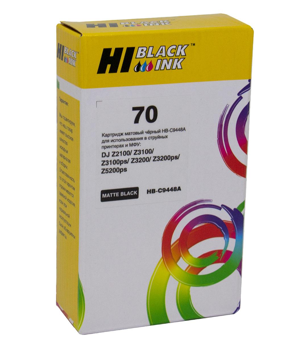 Картридж Hi-Black (HB-C9448A) №70 для HP DesignJet z2100/3100/3200/5200, MBk