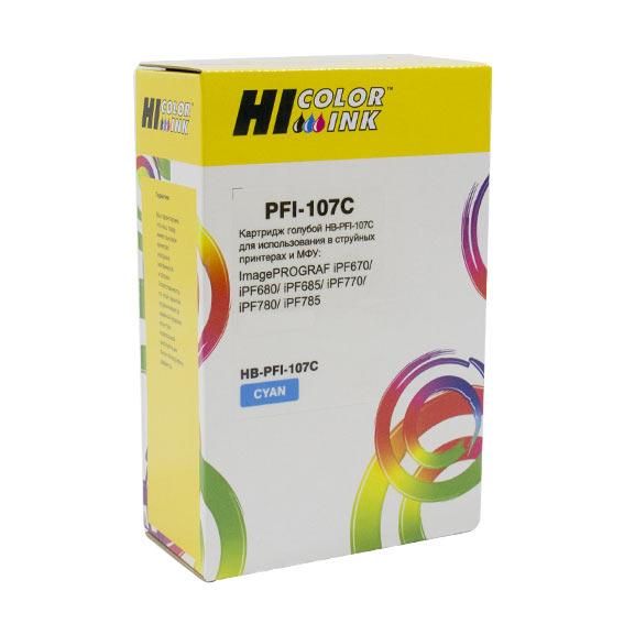 Картридж Hi-Black (PFI-107C) для Canon iPF680/685/780/785, C
