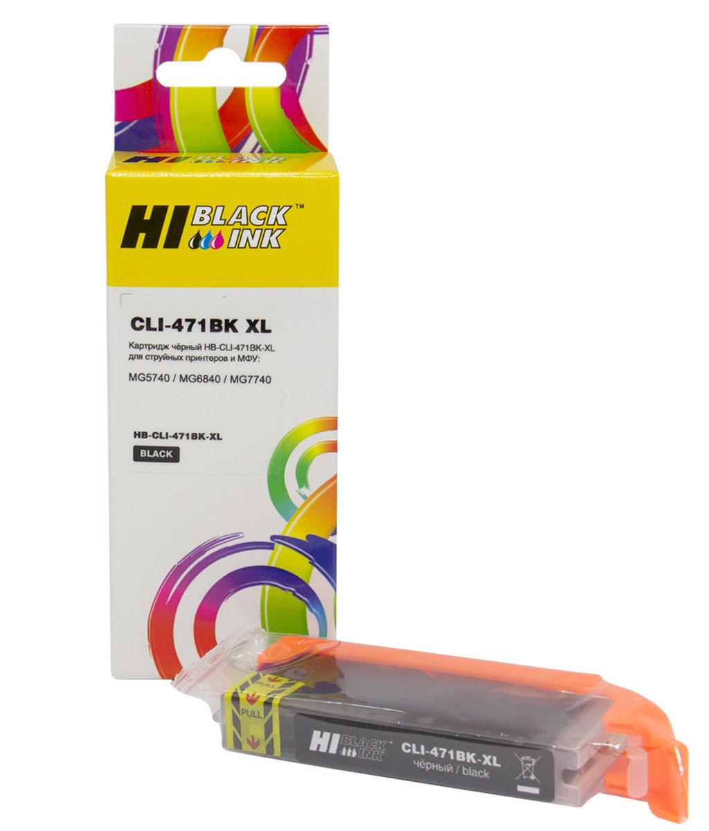 Картридж Hi-Black (CLI-471XLBK) для Canon CMG5740/MG6840/MG7740, Bk