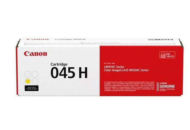 Тонер-картридж 045H Y Canon LBP610, Color iC MF630C, 2.2К (О) жёлтый 1243C002