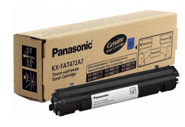 Тонер-картридж Panasonic KX-MB2110/2130/2170 (О) KX-FAT472A7, BK, 2K
