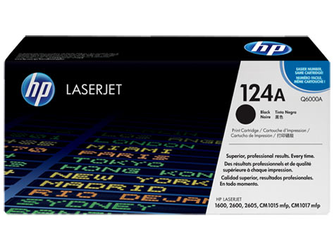Картридж 124A для HP CLJ 1600/2600N/2605, 2,5K (O) чёрный Q6000A