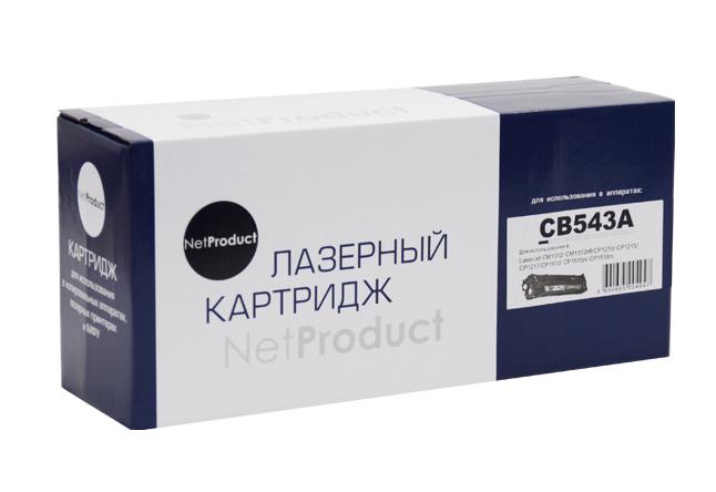 Картридж NetProduct (N-CB543A) для HP CLJ CM1300/CM1312/CP1210/CP1215, M, 1,5K