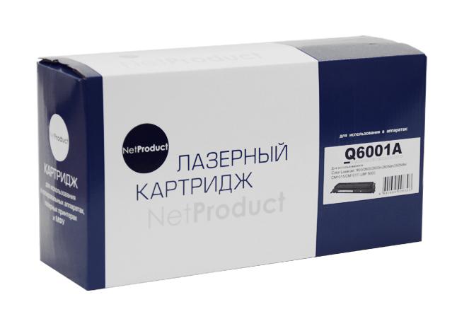 Картридж NetProduct (N-Q6001A) для HP CLJ 1600/2600/2605, Восстановленный, C, 2K