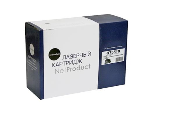 Картридж NetProduct (N-Q7551X) для HP LJ P3005/M3027MFP/M3035MFP, 13K