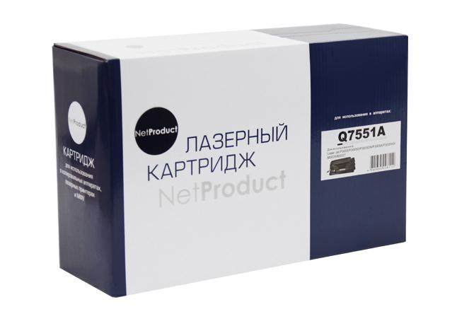 Картридж NetProduct (N-Q7551A) для HP LJ P3005/M3027MFP/M3035MFP, 6,5K