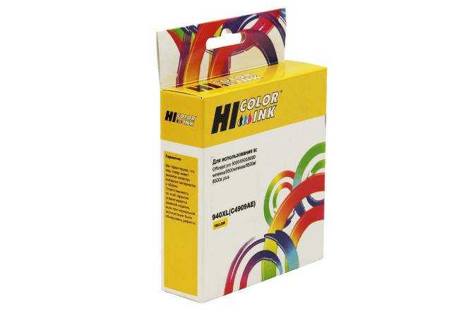 Картридж Hi-Black (HB-C4909AE) для HP Officejet Pro 8000/8500, №940XL, Y