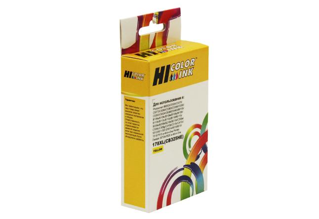 Картридж Hi-Black (HB-CB325HE) для HP Photosmart C5383/C6383/B8553/D5463, №178XL, Y