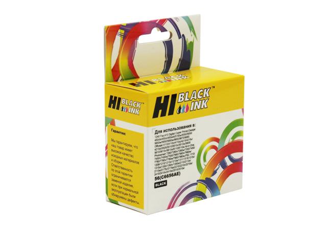 Картридж Hi-Black (HB-C6656AE) для HP PCS 2100/DJ 5550/450/PS7150/7350/7550, №56, Bk
