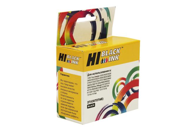 Картридж Hi-Black (HB-C8727AE) для HP DJ 3320/3325/3420, №27, Bk