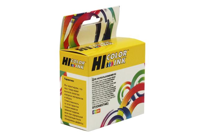 Картридж Hi-Black (HB-C6657AE) для HP DJ 5550/450, №57, Color