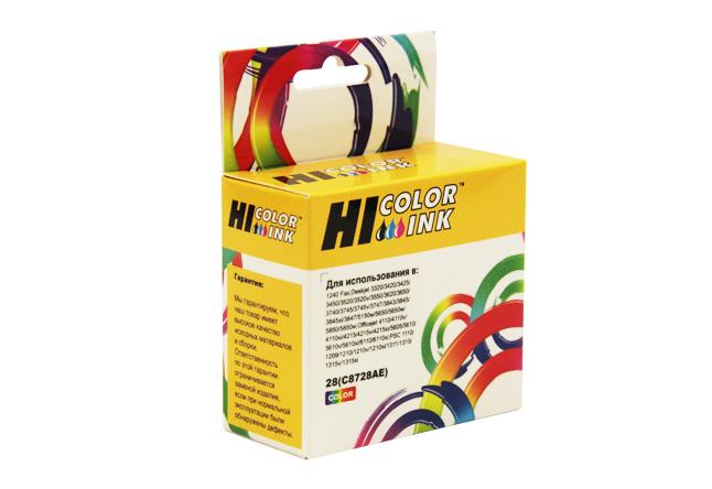Картридж Hi-Black (HB-C8728AE) для HP DJ 3320/3325/3420, №28, Color