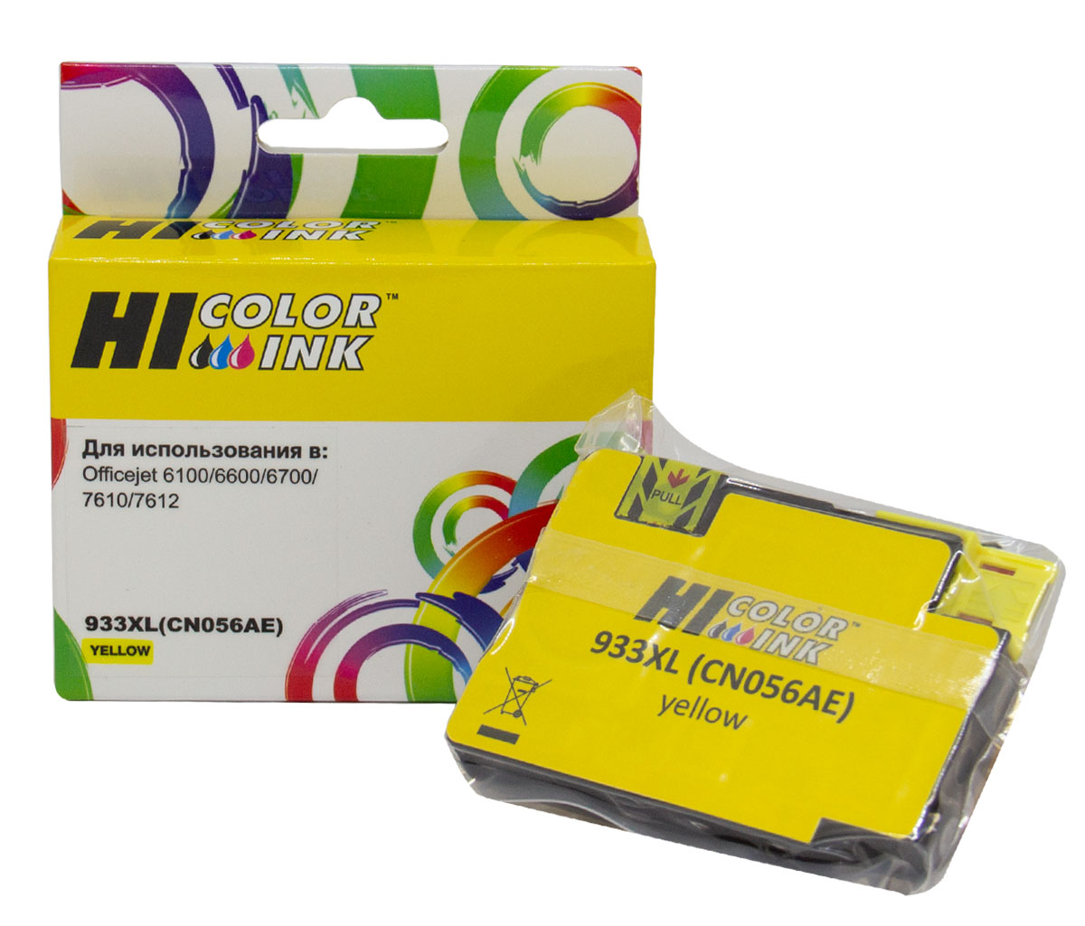 Картридж Hi-Black (HB-CN056AE) для HP Officejet 6100/6600/6700, №933XL, Y