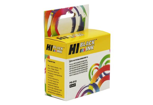 Картридж Hi-Black (HB-PG-512) для Canon PIXMA MP240/260/480, Bk