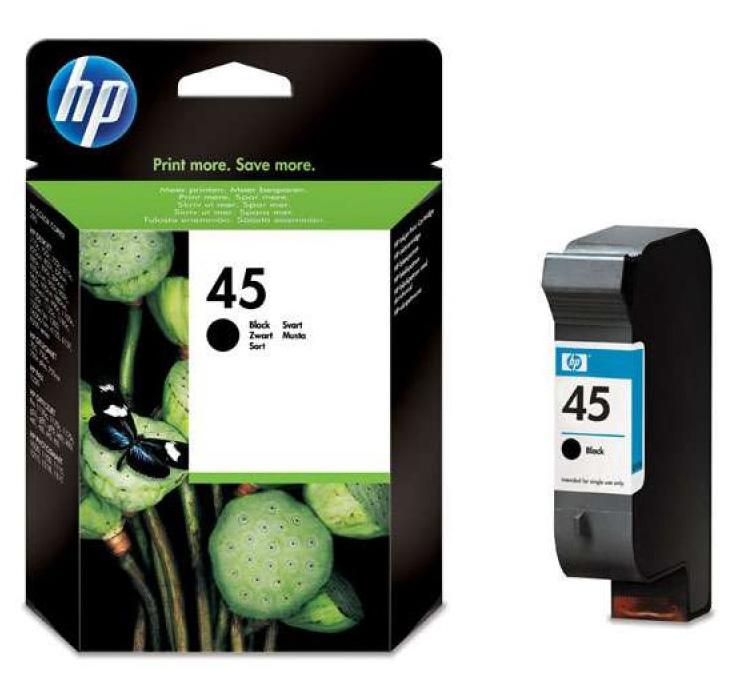 Картридж 45 для HP DJ 850C/970C/1600C, 0,930К (O) 51645AE, BK