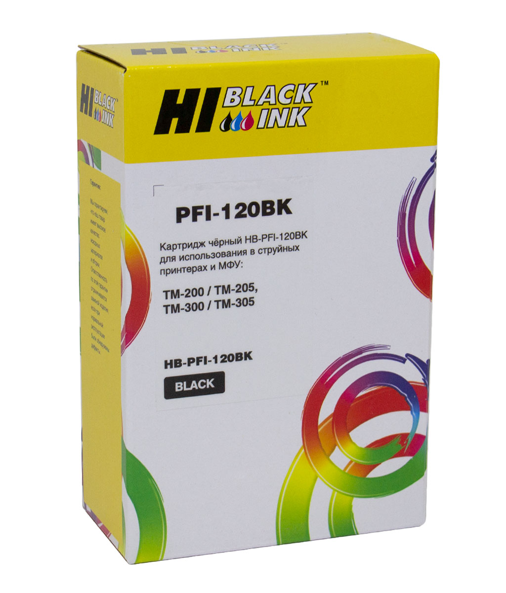Картридж Hi-Black (PFI-120BK) для Canon TM-200/205/300/305, Black