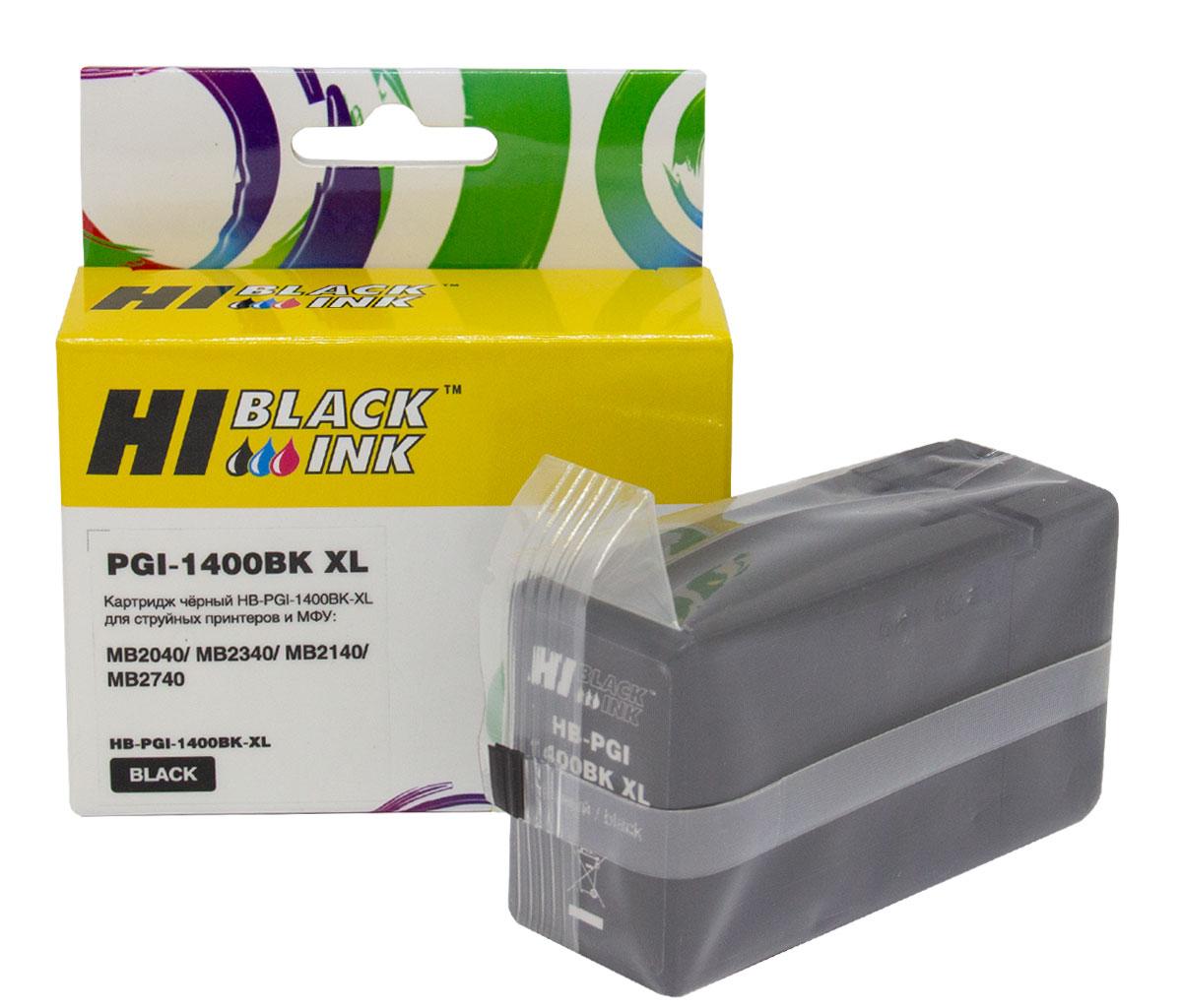Картридж Hi-Black (PGI-1400XLBK) для Canon MAXIFY MB2050/MB2350/MB2040/MB2340, Bk
