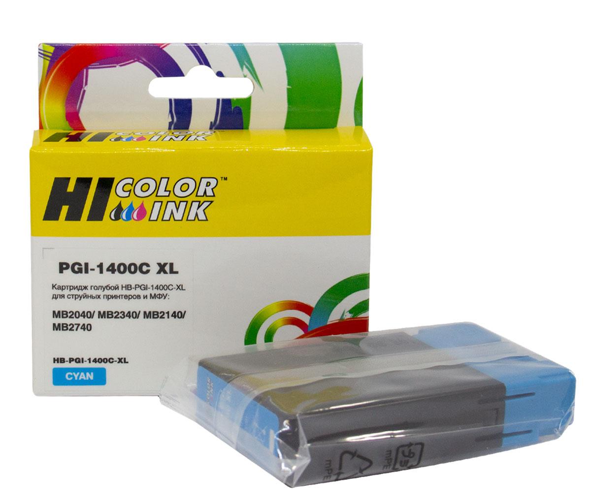 Картридж Hi-Black (PGI-1400XLC) для Canon MAXIFY MB2050/MB2350/MB2040/MB2340, C