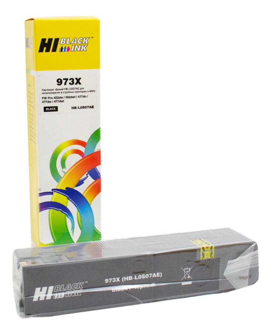Картридж Hi-Black (L0S07AE) для HP PW Pro477dw/452dw 973X, BK