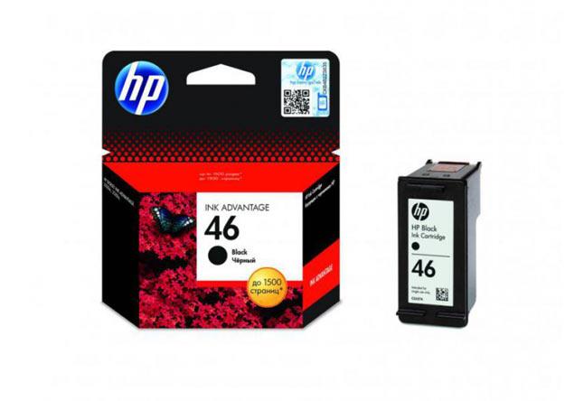 Картридж 46 для HP DJ 2020/2520,1,5К  (O) CZ637AE, BK