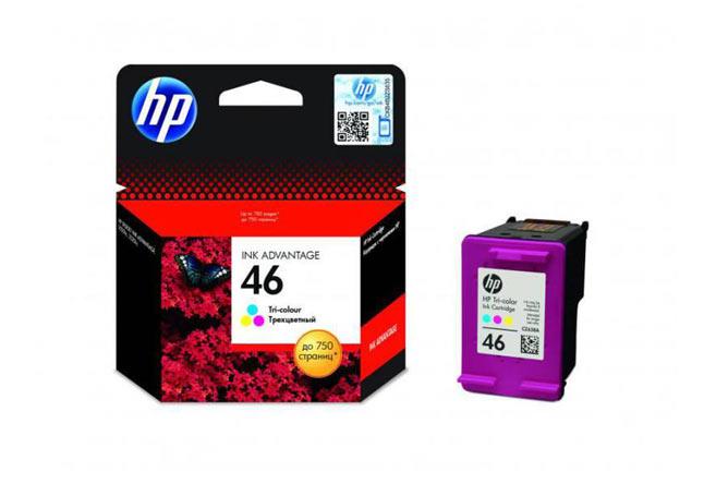 Картридж 46 для HP DJ 2020/2520, 0,75К (O) CZ638AE, Color