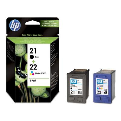 Картридж набор 21+22 для HP DJ 3920/3940, 0,190К+0,165К (O) SD367AE bk+color