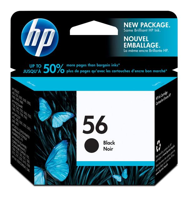 Картридж 56 для HP PCS 2100/DJ 5550/450/PS7150/7350/7550, 520стр. (O) C6656AE, BK