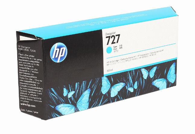Картридж 727 для HP DJ T920/T1500, 300ml (O) Cyan F9J76A