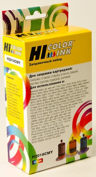 Заправочный набор Hi-Black для HP C6578A/C1823D/C6625AE/C6657A/C8728A/C9352AE, Col, 3x20мл