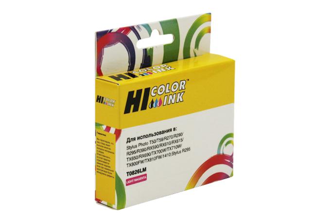 Картридж Hi-Black (HB-T0826) для Epson Stylus R270/295/390/RX590/T50, LM