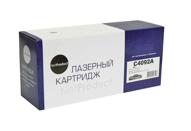 Картридж NetProduct (N-C4092A/EP-22) для HP LJ 1100/3200/Canon LBP 800/810/1110/1120, 2,5K
