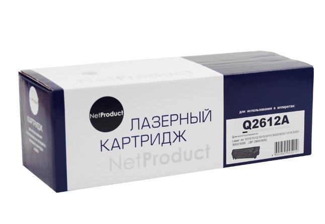 Картридж NetProduct (N-Q2612A) для HP LJ 1010/1020/3050, 2K