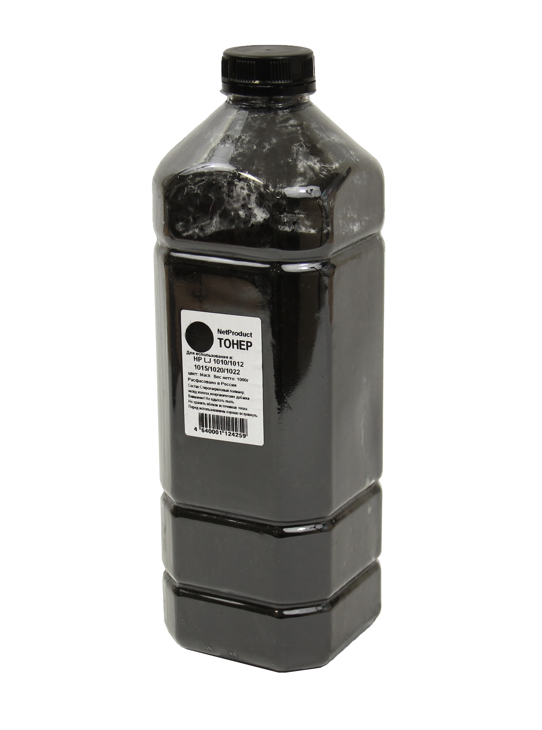 Тонер NetProduct для HP LJ 1010/1012/1015/1020/1022, Bk, 1 кг, канистра