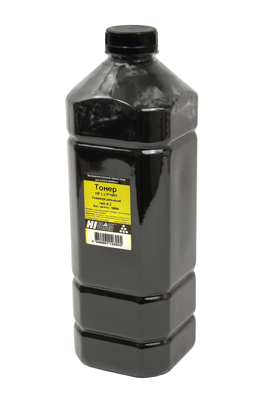 Тонер Hi-Black Универсальный для HP LJ P1005, Тип 4.2, Bk, 1 кг, канистра