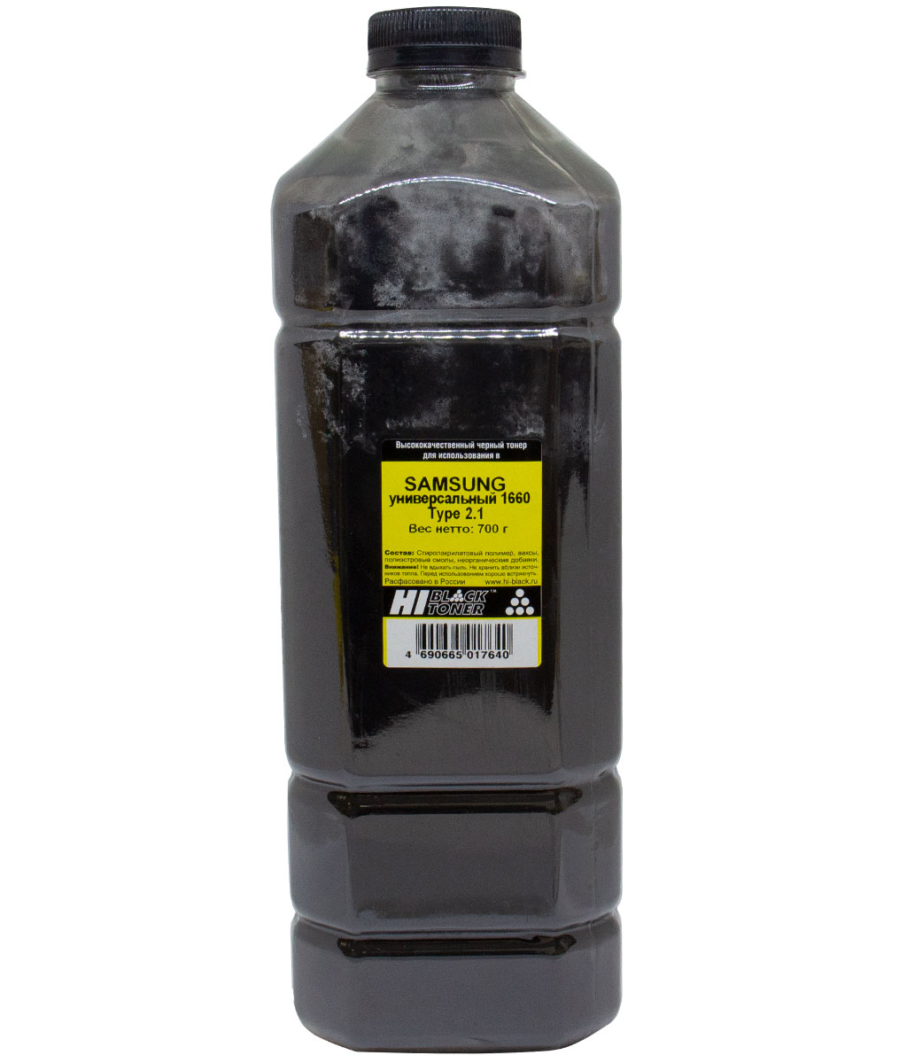 Тонер Hi-Black Универсальный для Samsung ML-1660, Тип 2.1, Bk, 700 г, канистра