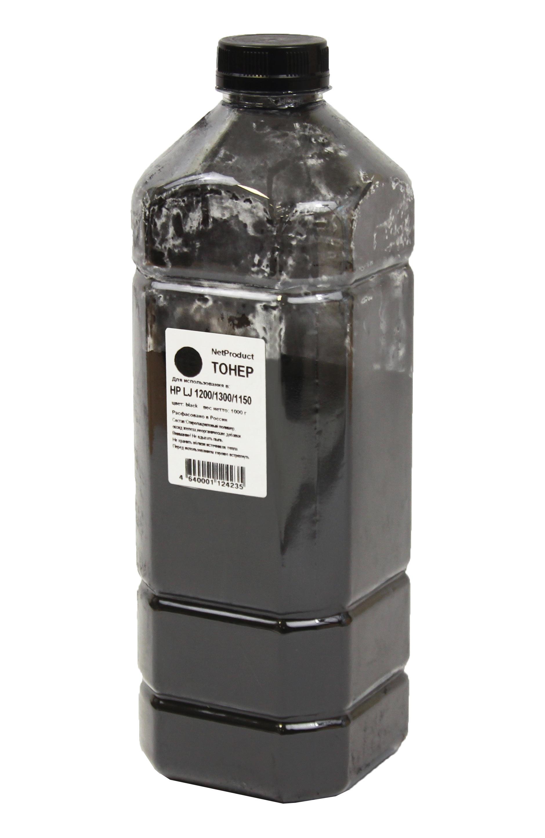 Тонер NetProduct для HP LJ 1200/1300/1150, Bk, 1 кг, канистра