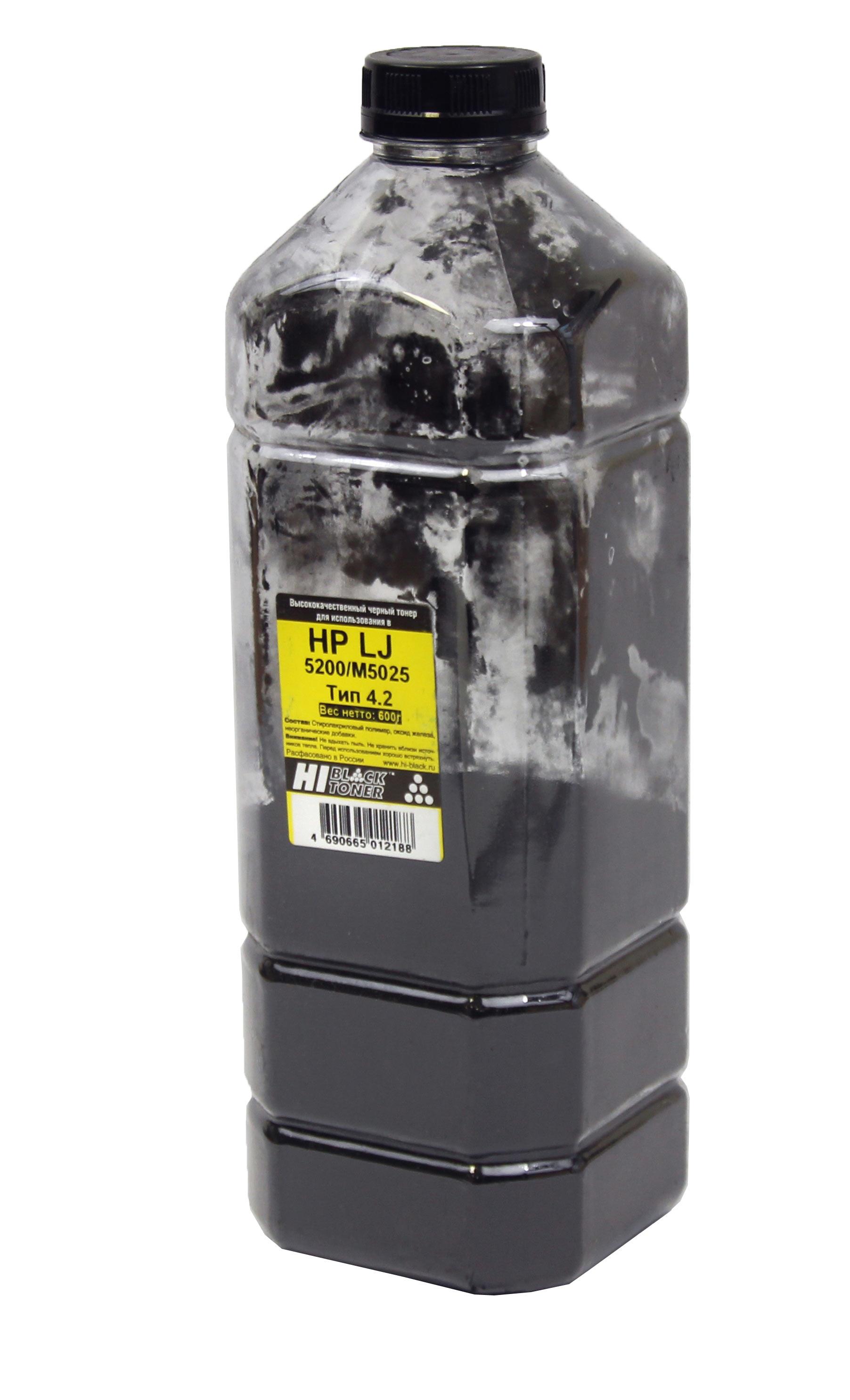 Тонер Hi-Black для HP LJ 5200/M5025, Тип 4.2, Bk, 600 г, канистра