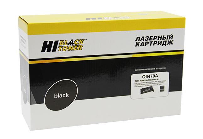 Картридж Hi-Black (HB-Q6470A) для HP CLJ 3600/3800/CP3505 Универс., Восстанов., Bk, 6K