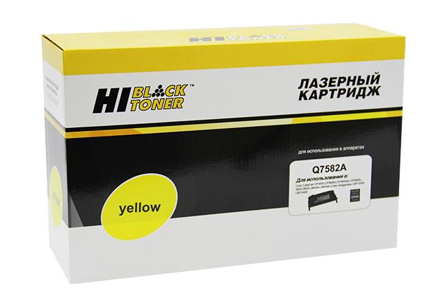 Картридж Hi-Black (HB-Q7582A) для HP CLJ 3800/CP3505/Canon MF8450, Восстановленный, Y, 6K