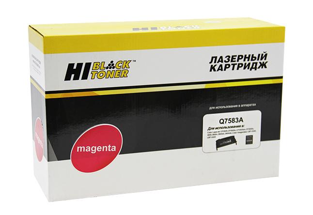 Картридж Hi-Black (HB-Q7583A) для HP CLJ 3800/CP3505/Canon MF8450, Восстановленный, M, 6K