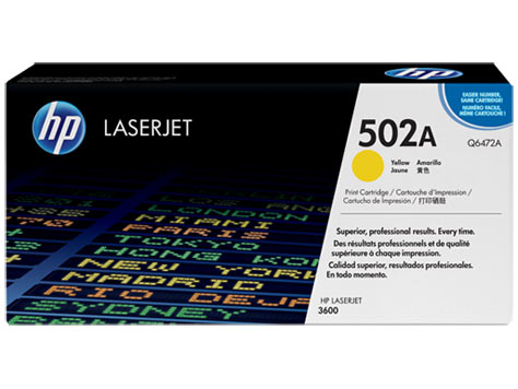 Картридж HP CLJ3600 (O) Q6472, Y, 4K