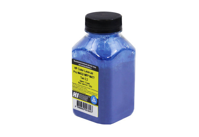 Тонер Hi-Black для HP CLJ Pro M452/MFP M477, Химический, Тип 2.2, C, 125 г, банка