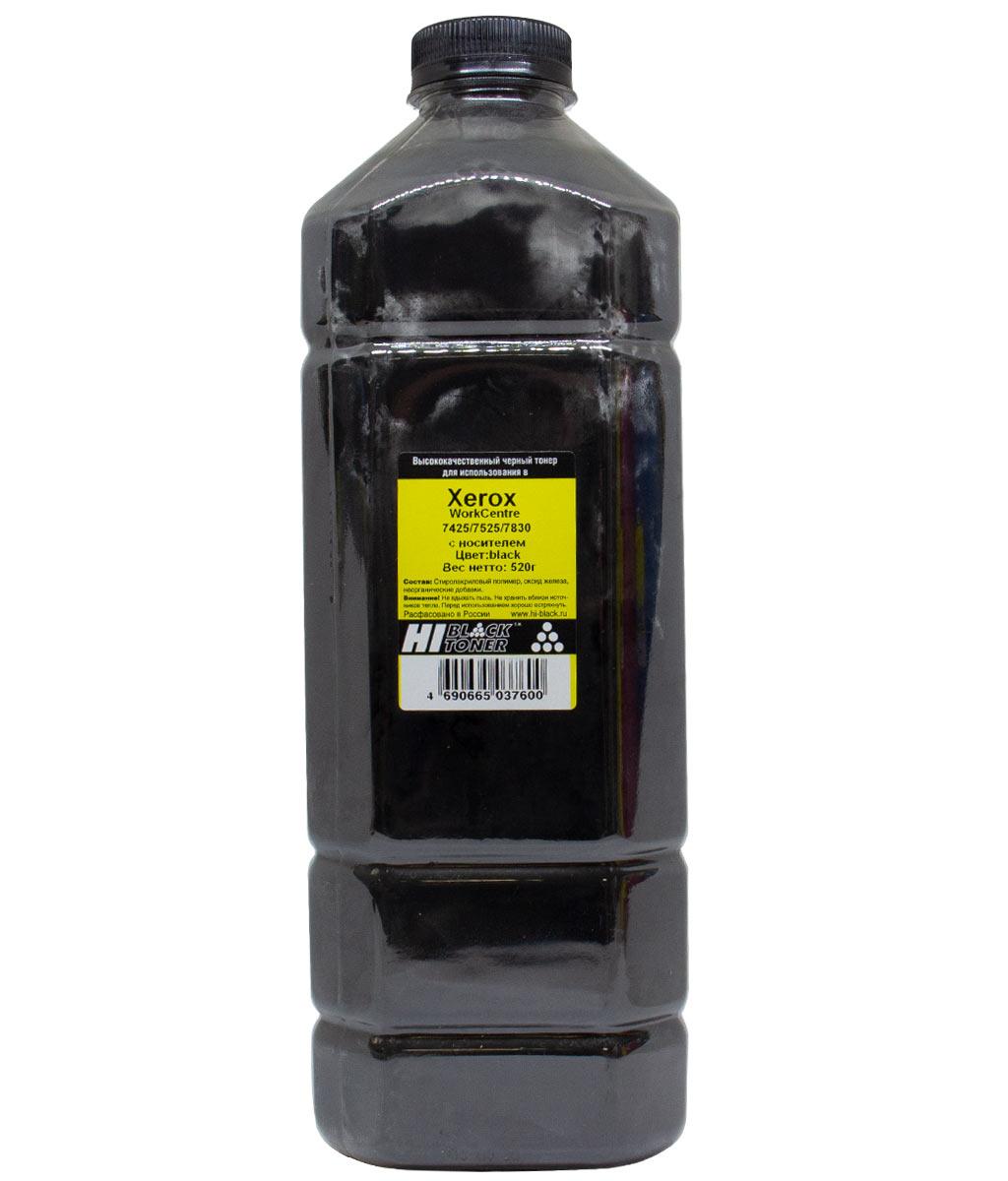 Тонер Hi-Black с носителем для Xerox WorkCentre 7425/7525/7830, Bk, 520 г, канистра